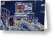 Computers And Wires Greeting Card