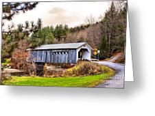 Comstock Bridge Montgomery Greeting Card