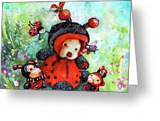 Comtessine Coccinella De Lafontaine Greeting Card