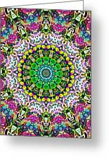 Concentric Colors Abstract Greeting Card