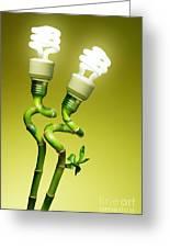 Conceptual Lamps Greeting Card by Carlos Caetano