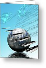 Conceptual Music World  Greeting Card