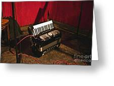 Concertina On The Floor Greeting Card