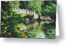 Concord River Bridge Greeting Card