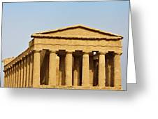 Concordia Temple In Agrigento, Sicily, Italy Greeting Card