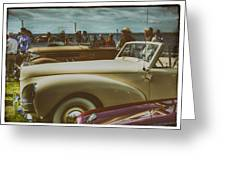 Concours Vintage Car Show Greeting Card