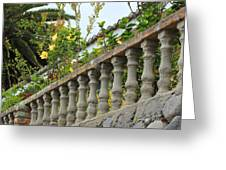 Concrete Banister And Plants Greeting Card