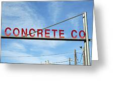 Concrete Company Greeting Card