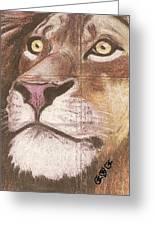 Concrete Lion Greeting Card