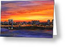 Concrete Sunset Greeting Card