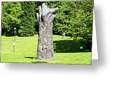 Concrete Tree On Campus Greeting Card