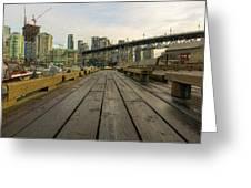 Condominium Buildings Along Granville Island Vancouver Bc Greeting Card