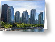 Condominium Waterfront Living In Vancouver Bc Greeting Card