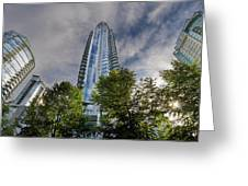 Condominiums Along Waterfront In Vancouver Bc Greeting Card