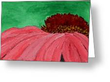 Cone Flower Greeting Card by Leslye Miller