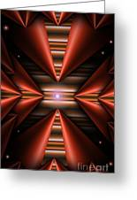Cone Red Convergence Greeting Card