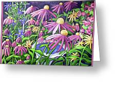 Coneflowers In Gentle Wind Greeting Card
