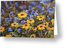 Coneflowers In The Sun Greeting Card
