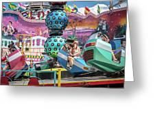 Coney Island Amusement Ride Greeting Card