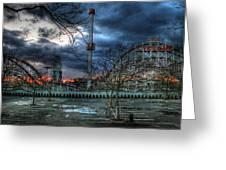 Coney Island Greeting Card by Bryan Hochman