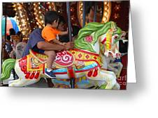Coney Island Carousel Greeting Card