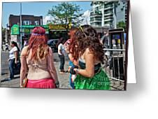 Coney Island Girls Greeting Card