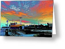 Coney Island In Living Color Greeting Card