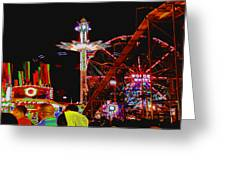 Coney Island Opening Day In Brooklyn New York Greeting Card