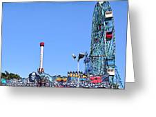 Coney Island's Astroland  Greeting Card