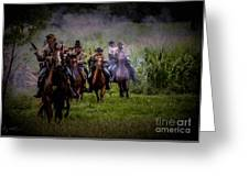 Confederate Cavalry Charge Greeting Card