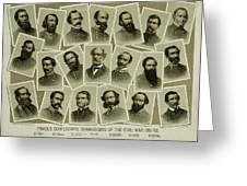 Confederate Commanders Of The Civil War Greeting Card