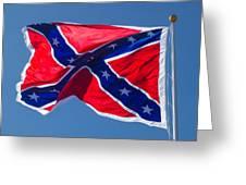 Confederate Flag 3 Greeting Card