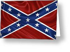 Confederate Flag - Second Confederate Navy Jack And The Battle Flag Of Northern Virginia Greeting Card