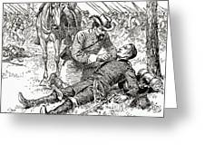 Confederate General John Brown Gordon Assists Wounded Union General Francis Channing Barlow Greeting Card