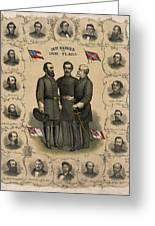 Confederate Generals Of The Civil War Greeting Card