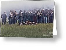 Confederate Infantry Skirmish  Greeting Card