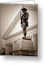 Confederate Memorial In Sepia Tone Greeting Card