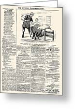 Confederate Newspaper Greeting Card