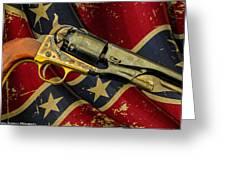 Confederate Sidearm Greeting Card