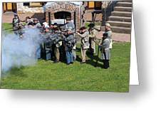Confederate Soldiers Fire Greeting Card