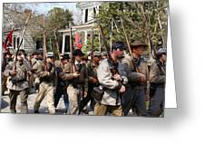 Confederate Soldiers Marching Greeting Card