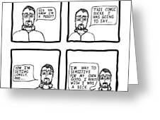 Confession Comic Greeting Card