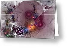 Confetti - Fractal Art Greeting Card