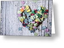 Confetti Heart Greeting Card