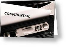 Confidential Documents Greeting Card