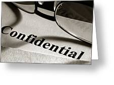 Confidential Greeting Card