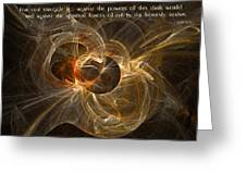 Conflict In The Heavenly Realms Greeting Card