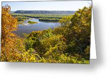 Confluence Of Mississippi And Wisconsin Rivers Greeting Card