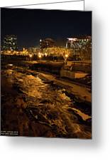 Confluence Park Rapids At Night Greeting Card