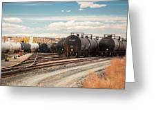 Congested Tracks Greeting Card